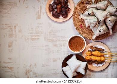 Close up traditional Malay Food during Ramadan and Eid Mubarak. Hari Raya Aidilfitri Festival