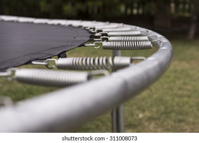 Close up of trampoline