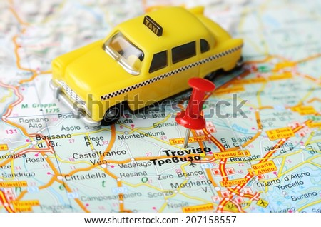 Close Treviso Italy Map Red Pin Stock Photo (Edit Now) 207158557 ...