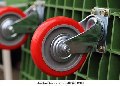 Close up of trolley wheel