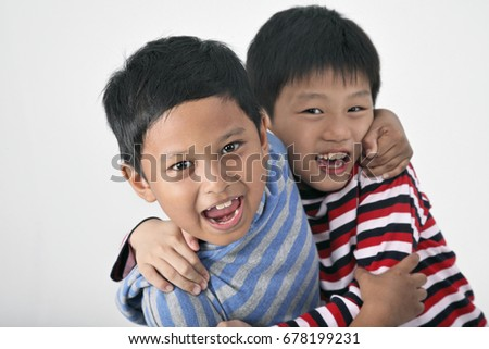 two boys together