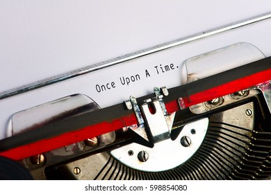Close up typewriter with text Once upon a time