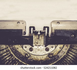 close up of typewriter vintage retro styled