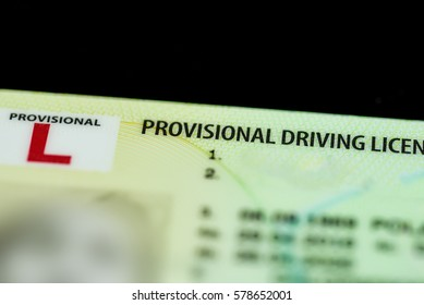 Close up of a UK Provisional Driving Licence.