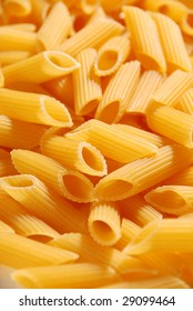 Close up of uncooked pasta