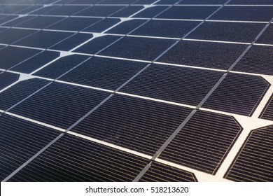 close uo solar cell panel