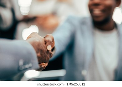 close up. background image of a handshake of young entrepreneurs