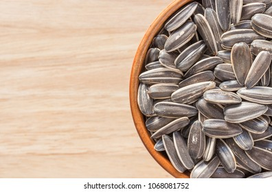 Close up, background Sunflower seed