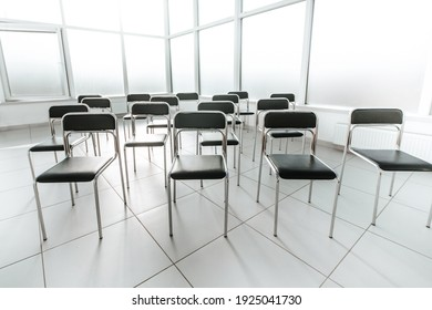 close up. empty conference room. photo with copy space