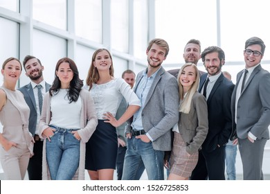 close up. a group of successful young business people