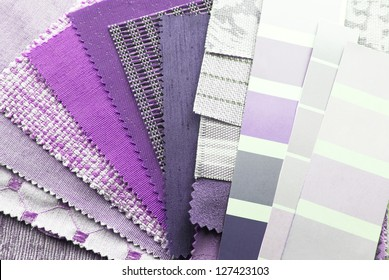 close up of the upholstery texture color samples