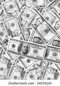 Close up of US dollars