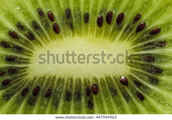 Close up used as kiwi fruit texture background