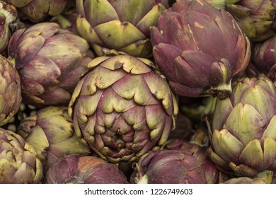 Close up of vegetables artichoke