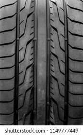 Close up vehicle tyres testured