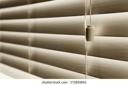 Close Up Of Venetian Blinds