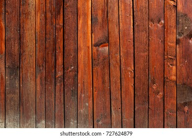Close up of vertical wooden planks texture.