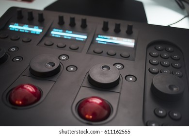 Close Up of Video Control Panel