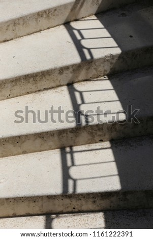 Close View Above Staircase Steps Metallic Stock Photo Edit Now