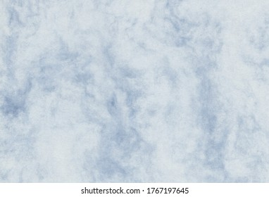 Close up view of abstract blue and grey creative paper background. Extra large highly detailed image.