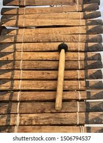 Close view of African balafon / xylophone - musical instrument