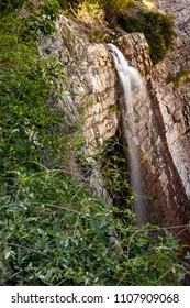 Close up view of Battle Creek falls from the top on the Battle Creek Fall Trail near the Canyon in Pleasant Grove Utah.