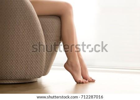 857072c08ae4e Close View Beautiful Bare Female Legs Stock Photo (Edit Now ...