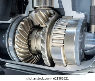 Close up view of brand new engine gears