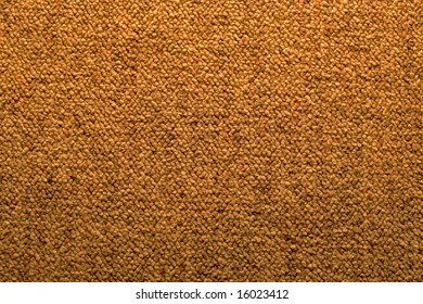 Close view of a brown carpet