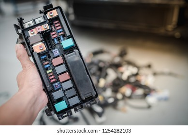 car fuse images stock photos vectors shutterstock Home Electrical Fuse Box close up view of car fuse box control engine lighting car electrical and automobile