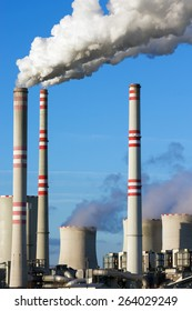 Close view of coal power plant