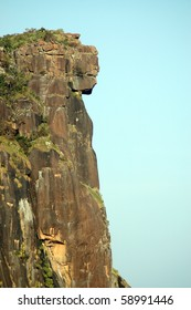 Close up view of the dame de mali rock formation in fouta djalon mountains in Guinea