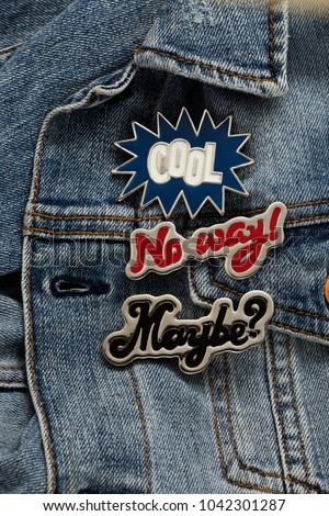 Close View Denim Jeans Jacket Cool Stock Photo Edit Now 1042301287