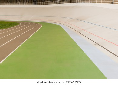 close up view of empty cycle race track