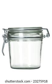 Close up view of the empty retro jar