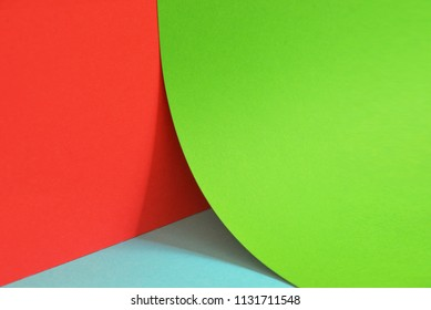Close up view of geometric background colored paper
