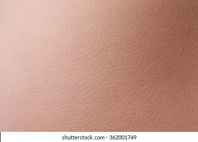 close up view of a human skin (woman)