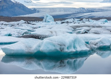Close view of iceberg, Jokulsarlon Glacier Lake, Iceland.