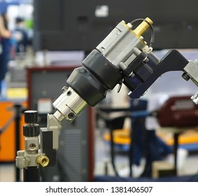 Close up view of an industrial automation tool