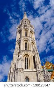 Close view of the Matthias church, Budapest, Hungary