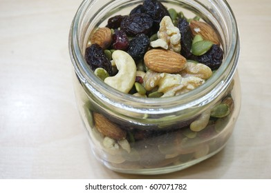 Close Up View of Mixed Nuts