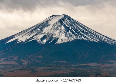 Close up view of Mount Fuji.