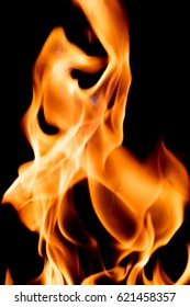 Close up view of natural flame