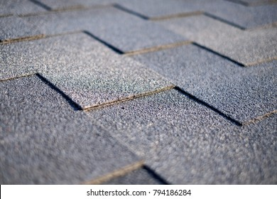 Close up view on Asphalt Bitumen tile roof.