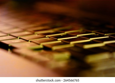 Close up view on conceptual keyboard