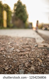 Close view on the pavement repair street