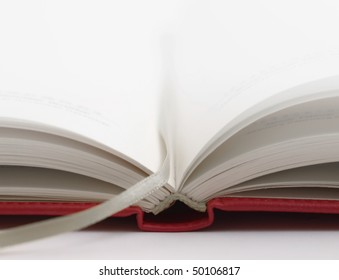 Close up view of an opened book