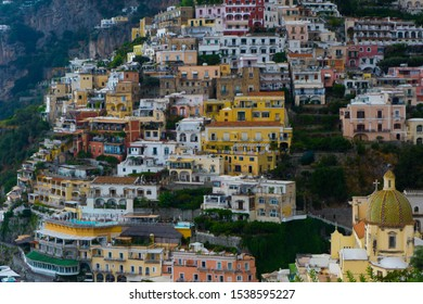 Close view to Positano from the Path of Gods