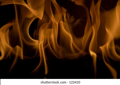 Close up view of a roaring fire