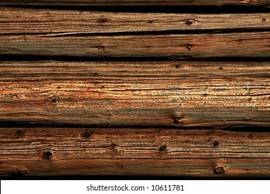 Close view of a rustical wood background